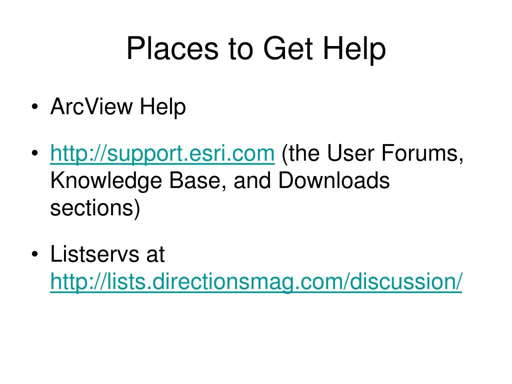 Places to Get Help