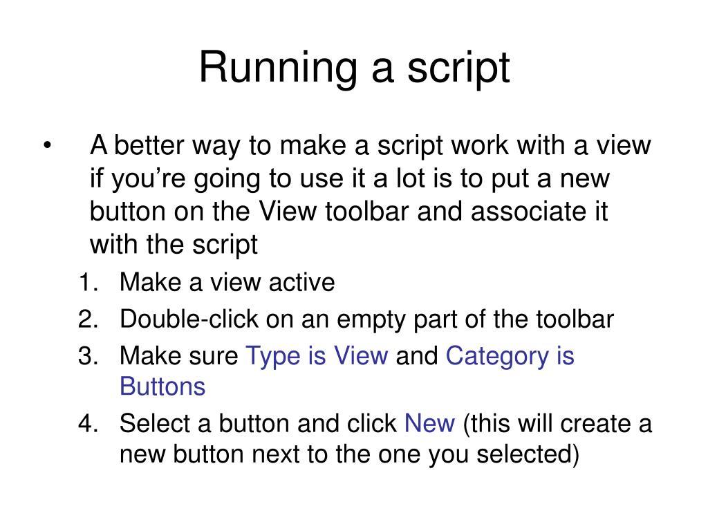 Running a script