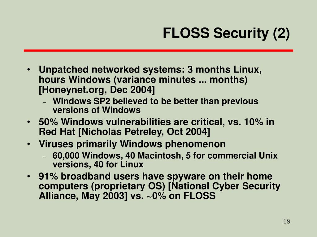 FLOSS Security (2)