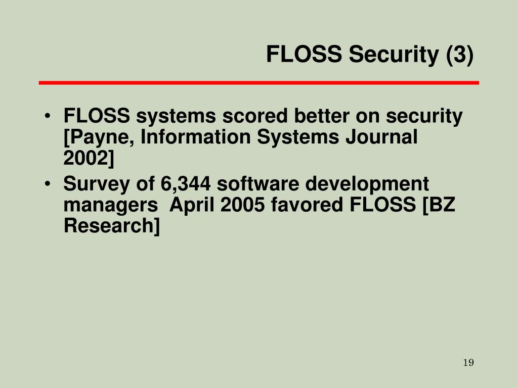FLOSS Security (3)