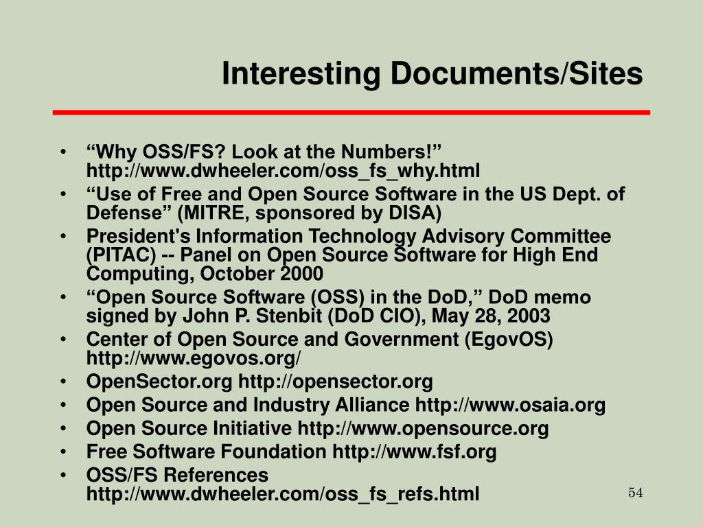 Interesting Documents/Sites