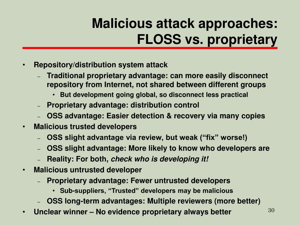 Malicious attack approaches: