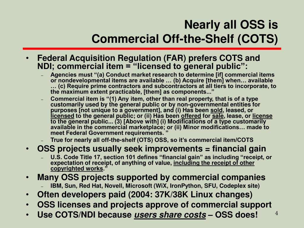 Nearly all OSS is