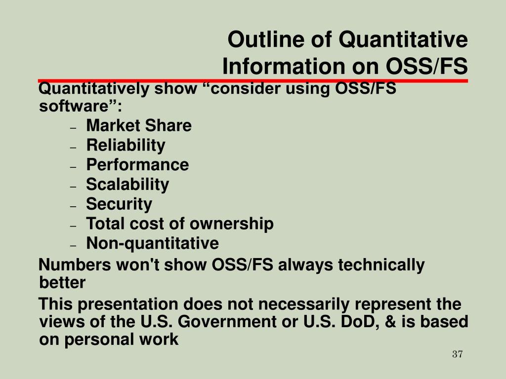 Outline of Quantitative Information on OSS/FS