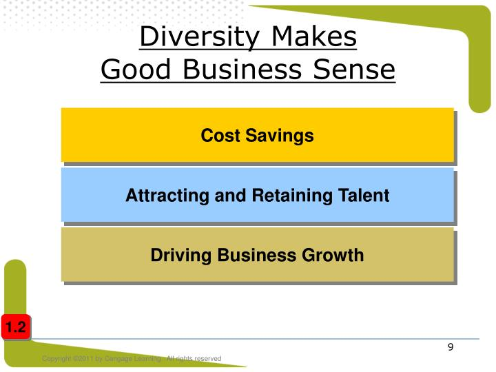 diversity makes good business case But to feel the benefits, organisations need to make diversity part of their dna,   of the inclusion imperative: how real inclusion creates better business and.