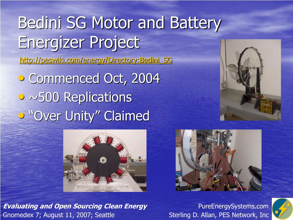 Bedini SG Motor and Battery Energizer Project