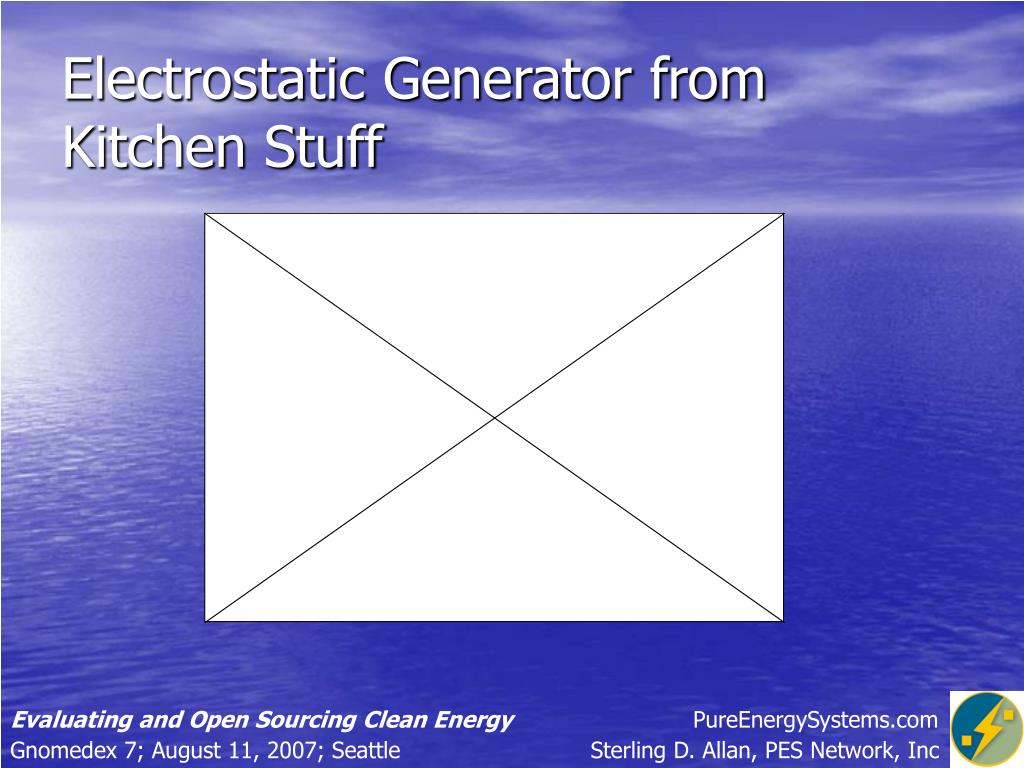 Electrostatic Generator from Kitchen Stuff