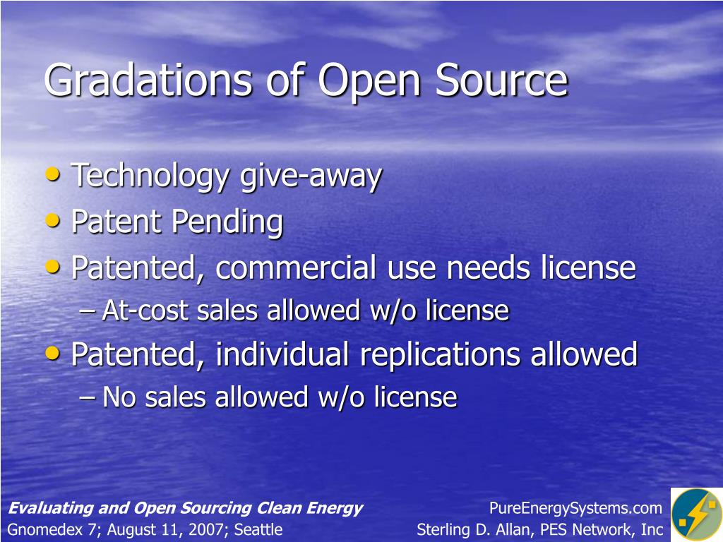 Gradations of Open Source