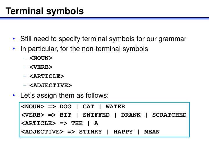 Terminal symbols