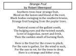 strange fruit by robert meeropool
