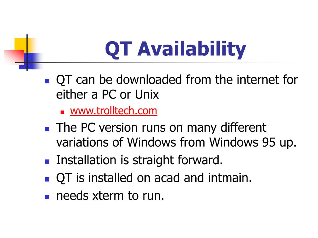QT Availability