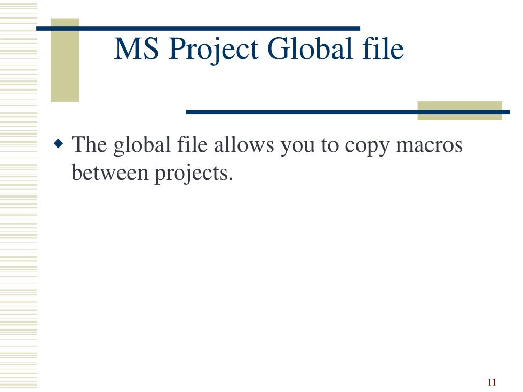 MS Project Global file