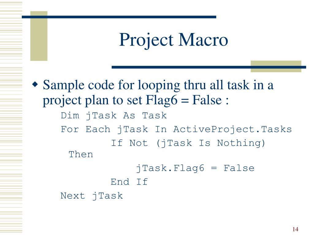 Project Macro