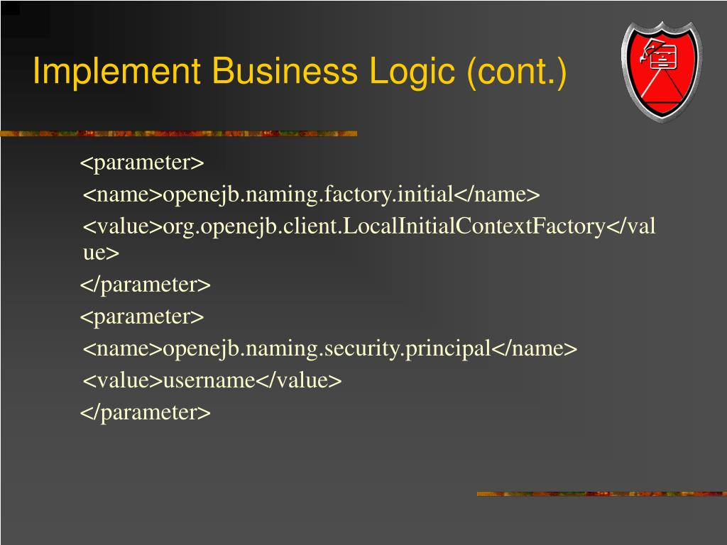 Implement Business Logic (cont.)