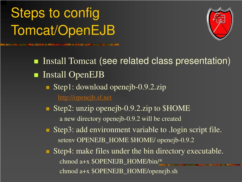 Steps to config Tomcat/OpenEJB