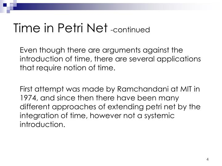 Time in Petri Net