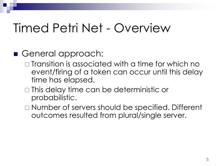 Timed Petri Net - Overview
