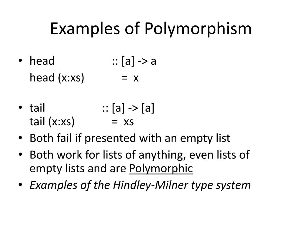Examples of Polymorphism