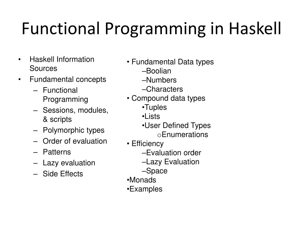 Functional Programming in Haskell