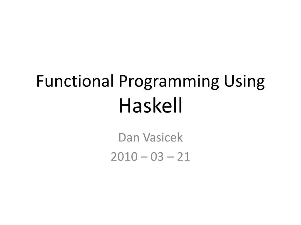 Functional Programming Using