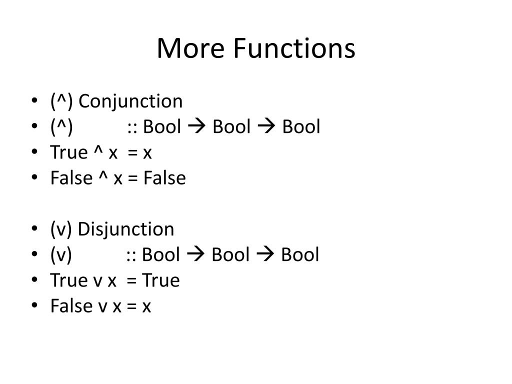 More Functions