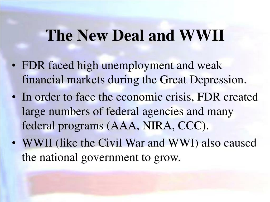 The New Deal and WWII