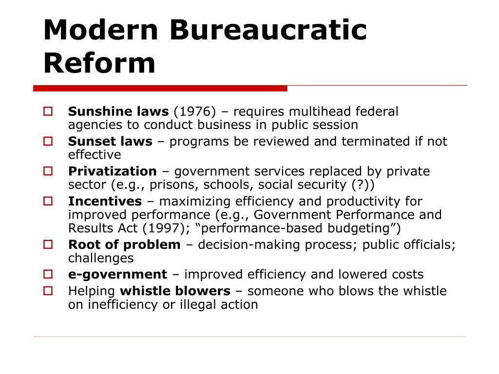 Modern Bureaucratic Reform