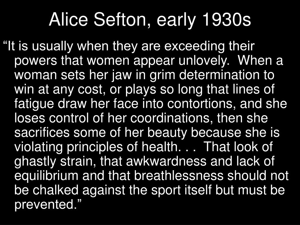 Alice Sefton, early 1930s
