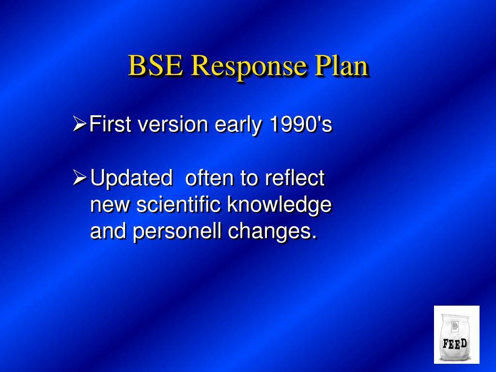 BSE Response Plan