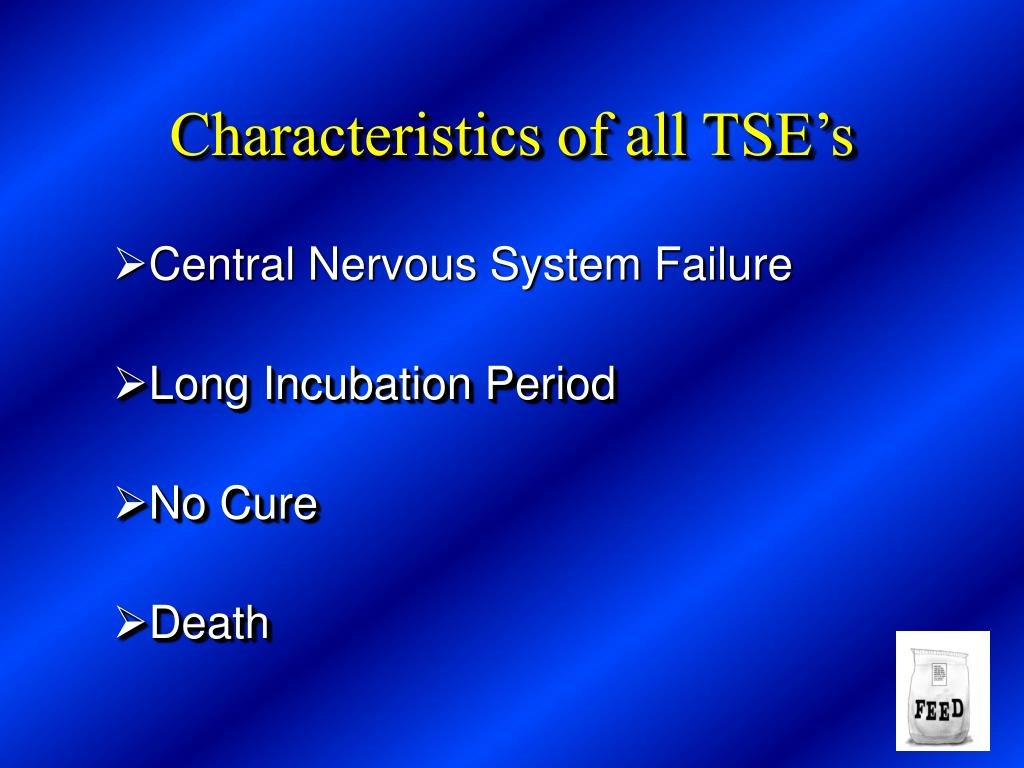 Characteristics of all TSE's