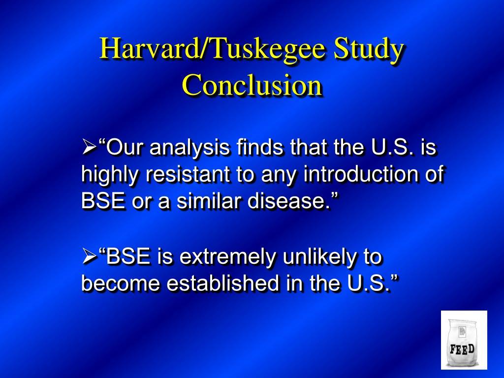 Harvard/Tuskegee Study