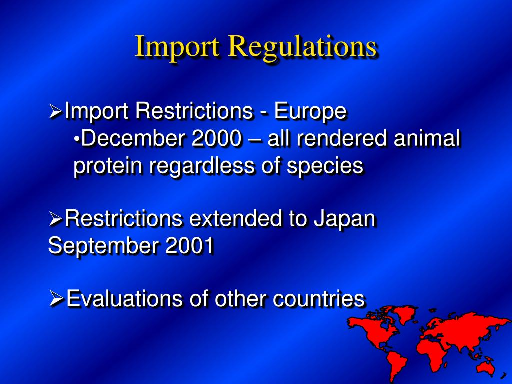 Import Restrictions - Europe