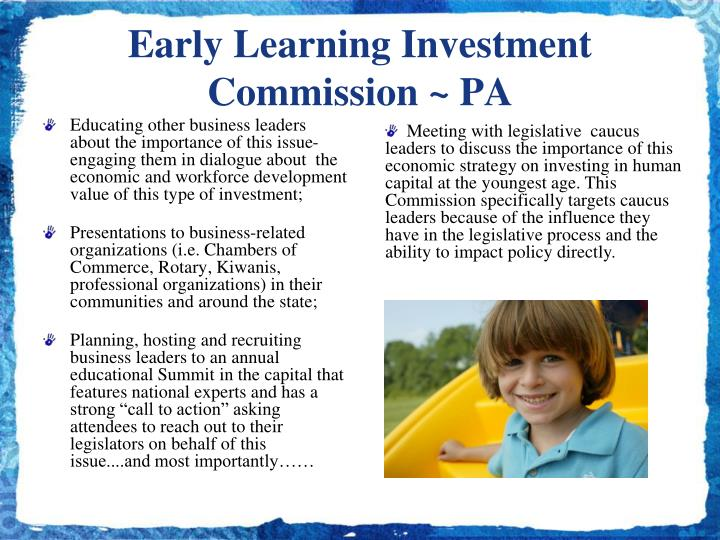 Early Learning Investment Commission ~ PA