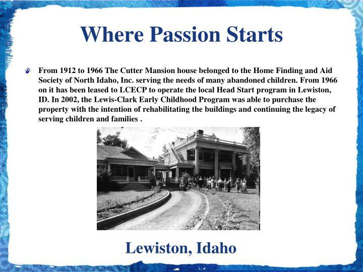 Where Passion Starts