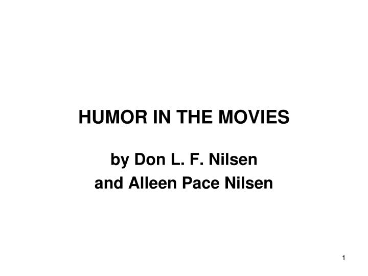 Humor in the movies