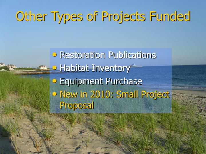 Other Types of Projects Funded