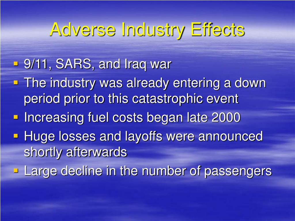 Adverse Industry Effects