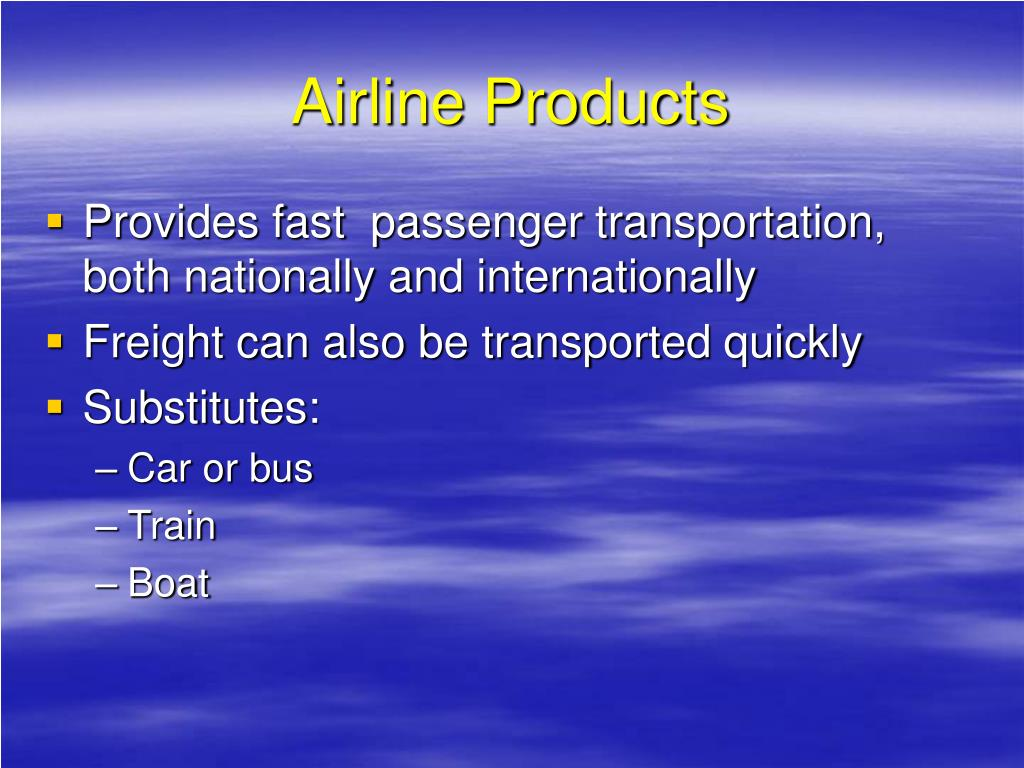 Airline Products
