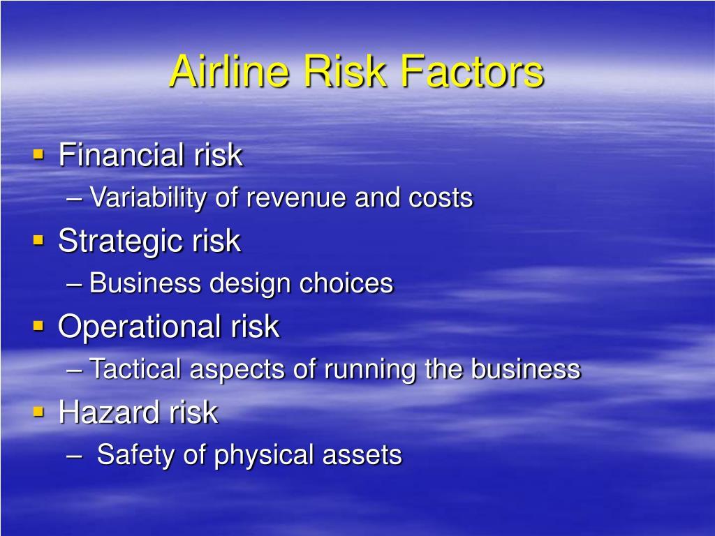 Airline Risk Factors