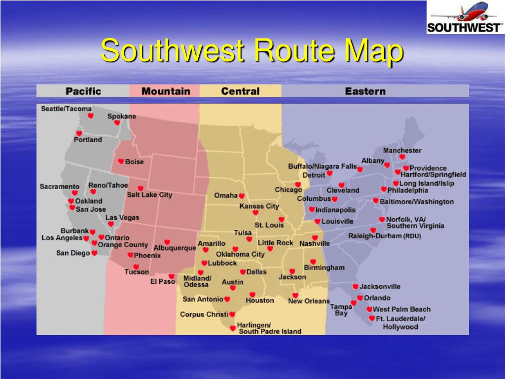 Southwest Route Map