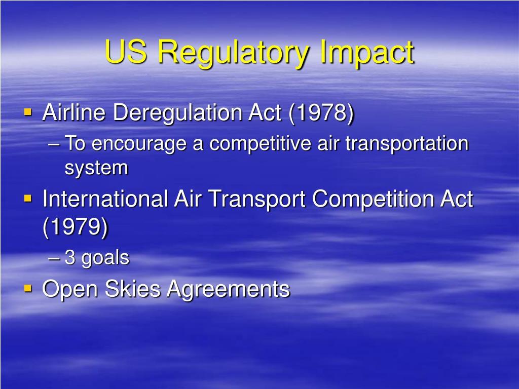 US Regulatory Impact