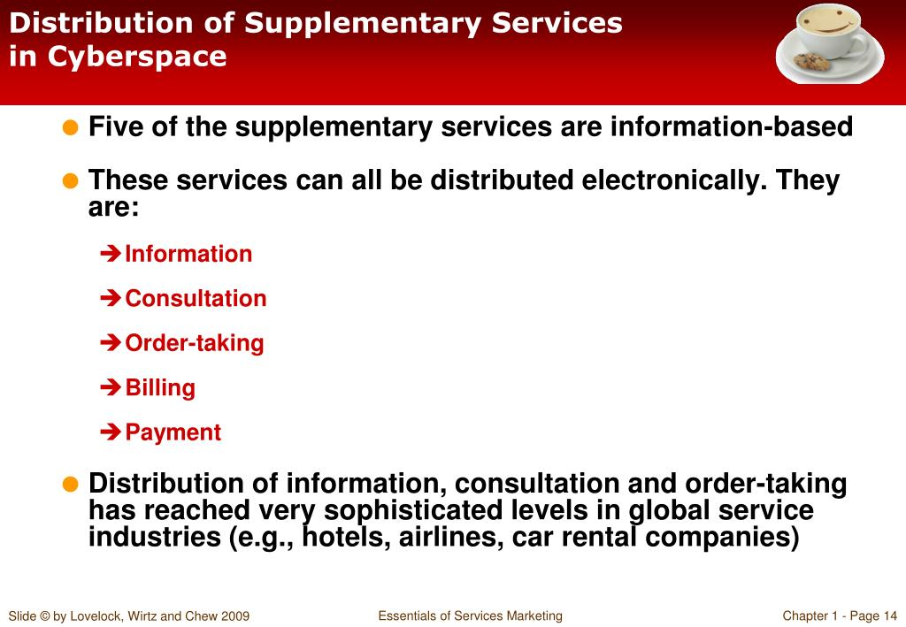 Distribution of Supplementary Services in Cyberspace