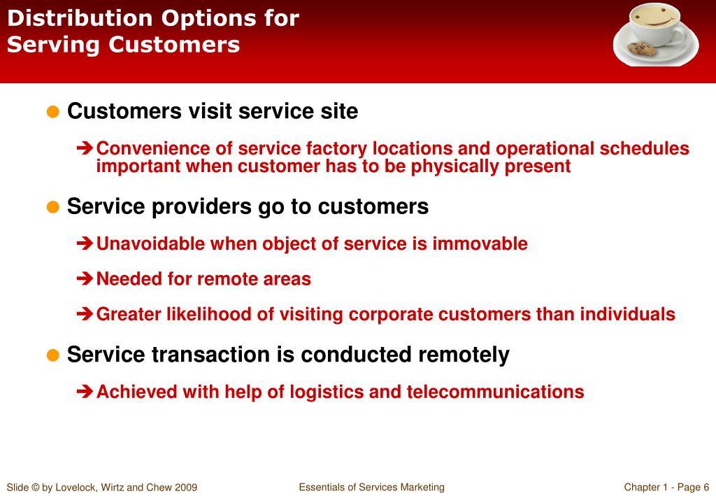 Distribution Options for