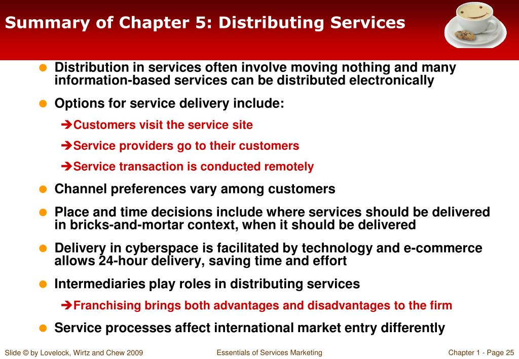 Summary of Chapter 5: Distributing Services