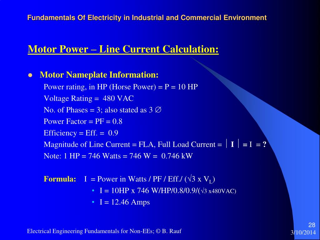 Fundamentals Of Electricity in Industrial and Commercial Environment