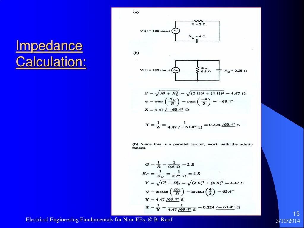 Impedance Calculation: