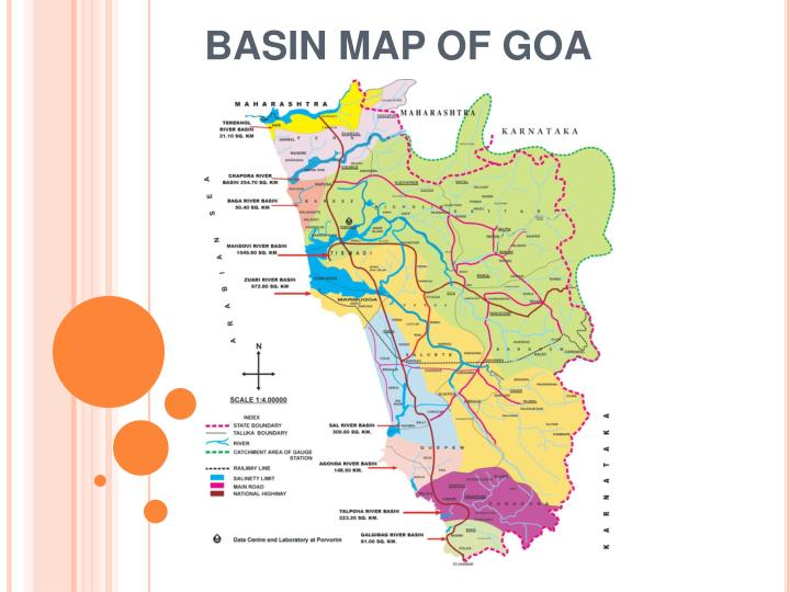 Basin map of goa