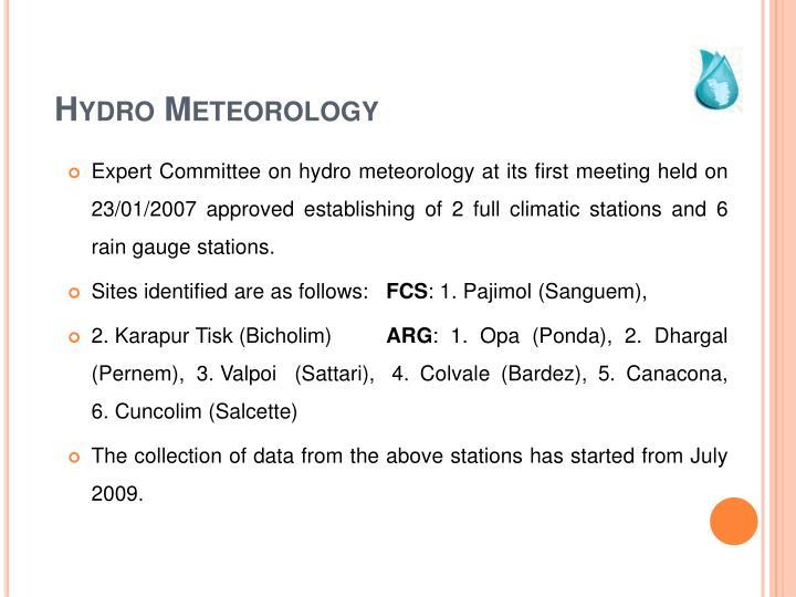 Hydro Meteorology