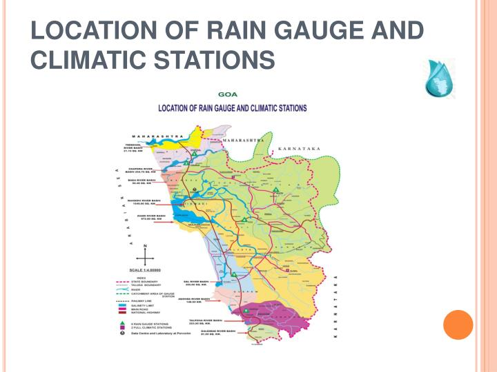 LOCATION OF RAIN GAUGE AND CLIMATIC STATIONS