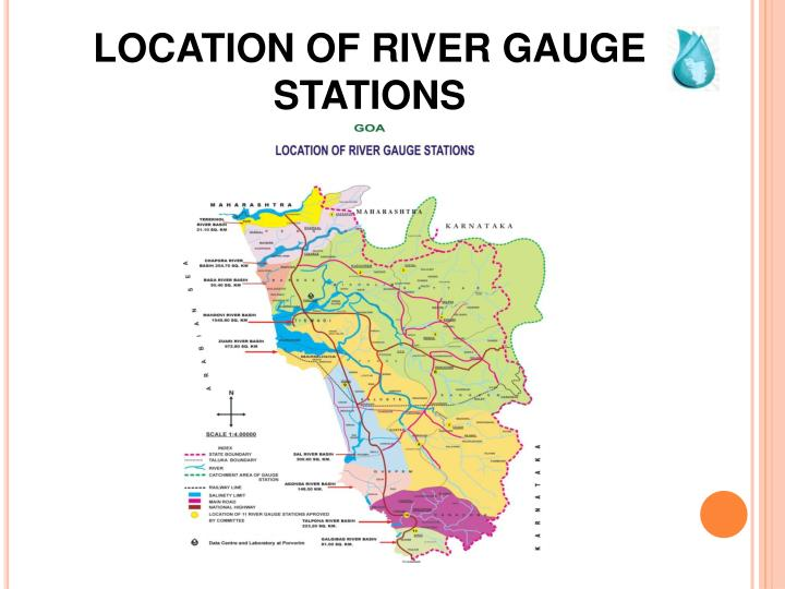 LOCATION OF RIVER GAUGE STATIONS